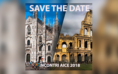 Riunioni AICE 2018 – SAVE THE DATE