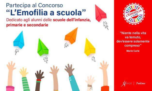 """Premi FEDEMO-AICE """"L'emofilia a scuola"""": si può partecipare fino al 23 Settembre"""