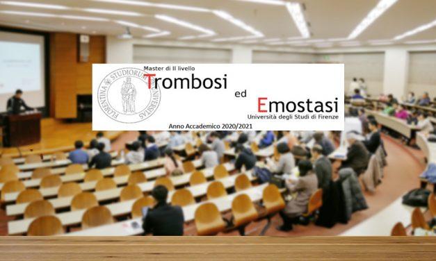 Master II livello in Trombosi ed Emostasi – Università di Firenze A.A. 2020/2021